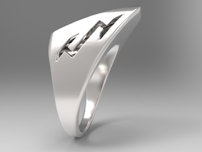 Speedy Ring S B in Polished Silver: 10 / 61.5