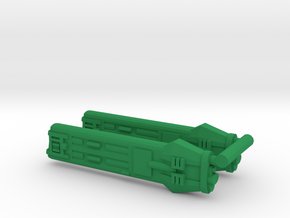 KWE Type E Klingon Warp Nacelle in Green Strong & Flexible Polished