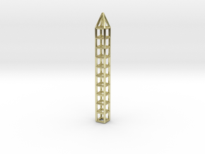 Pen Pendant CC in 18k Gold Plated Brass