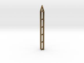 Pen Pendant X in Natural Bronze