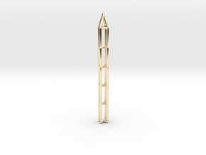 Pen Pendant X in 14K Yellow Gold