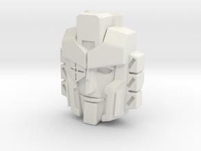 Perceptor, IDW Face (Titans Return) in White Natural Versatile Plastic