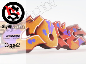COPE graffiti sculpture in Full Color Sandstone: Medium