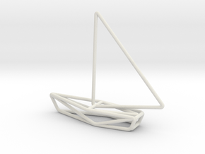 Sailing Boat Scale 1-200 in White Natural Versatile Plastic: 1:200