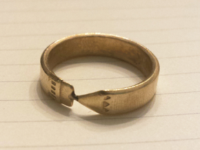 Pencil Ring, Size 5 in Natural Brass