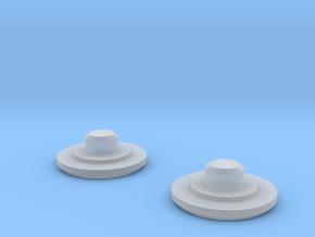 Fidget Bearing Caps in Smooth Fine Detail Plastic