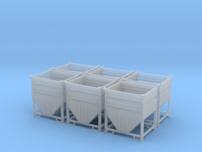 H0 1:87 Lagercontainer (6 Stk) in Smooth Fine Detail Plastic