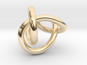 Figure 8 Knot in 14k Gold Plated Brass