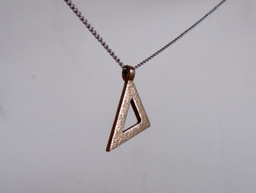 Isosceles set square in Polished Bronzed Silver Steel