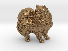 Custom Pomeranian Dog in Natural Brass