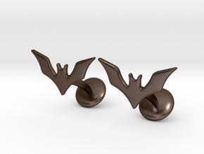 The Batman Beyond Cufflinks in Polished Bronze Steel