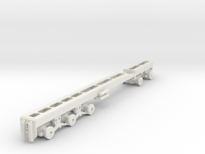 1/50th Heavy twin steer tridem drive truck frame in White Natural Versatile Plastic