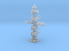 1/87th Hydraulic Fracturing Wellhead with BOP in Smooth Fine Detail Plastic
