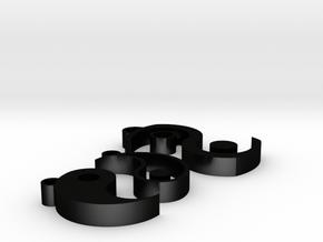 JIN-JANG earrings and necklace in Matte Black Steel