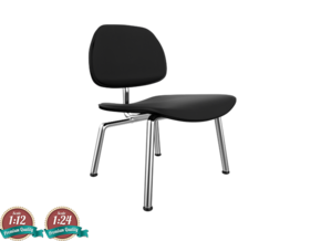 Miniature Eames LCM -  Leather - Charles Eames in Smooth Fine Detail Plastic: 1:24