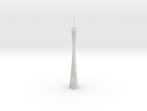 Canton Tower (1:2000) in White Natural Versatile Plastic
