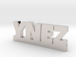 YNEZ Lucky in Rhodium Plated Brass