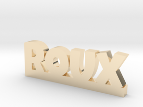 ROUX Lucky in 14k Gold Plated Brass