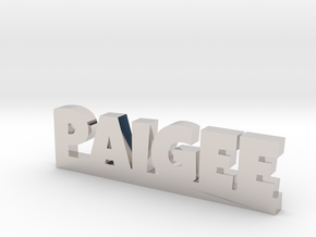 PAIGEE Lucky in Rhodium Plated Brass