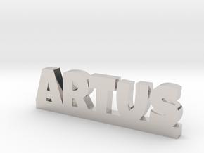 ARTUS Lucky in Rhodium Plated Brass