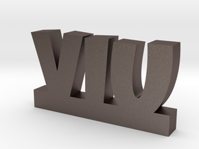VIU Lucky in Polished Bronzed Silver Steel
