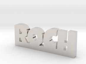 ROCH Lucky in Rhodium Plated Brass