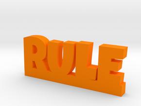 RULE Lucky in Orange Processed Versatile Plastic