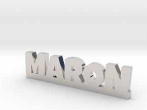 MARON Lucky in Rhodium Plated Brass