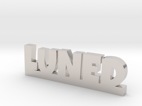 LUNED Lucky in Rhodium Plated Brass