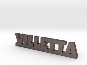 VILLETTA Lucky in Polished Bronzed Silver Steel