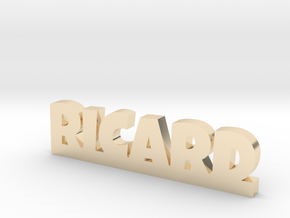 RICARD Lucky in 14k Gold Plated Brass