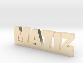 MATIZ Lucky in 14k Gold Plated Brass