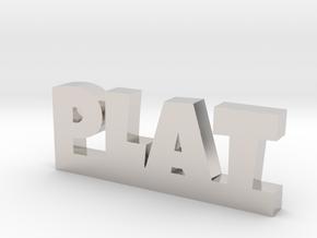 PLAT Lucky in Rhodium Plated Brass