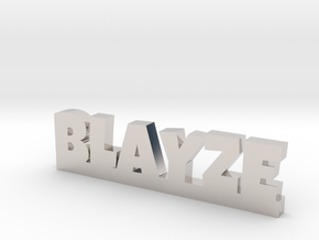 BLAYZE Lucky in Rhodium Plated Brass