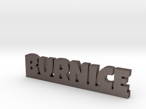 BURNICE Lucky in Polished Bronzed Silver Steel