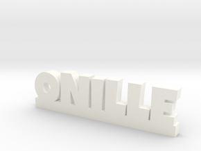 ONILLE Lucky in White Processed Versatile Plastic
