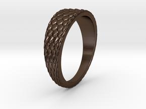 Dragon Skin Ring in Polished Bronze Steel