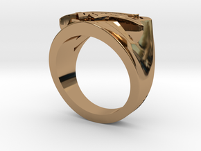 Wedding Ring US7.5 in Polished Brass