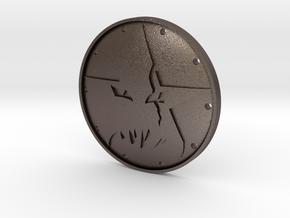 Grimjack's Demonstar Badge in Polished Bronzed Silver Steel
