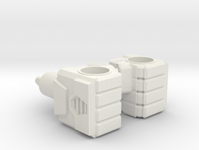 Robot Fists, 5mm in White Natural Versatile Plastic