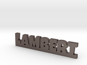 LAMBERT Lucky in Polished Bronzed Silver Steel