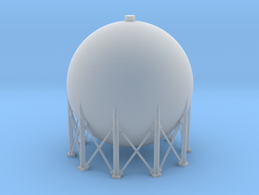 N Scale Spherical Tank 250m3 in Smooth Fine Detail Plastic