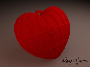 The Barred Heart in Red Processed Versatile Plastic