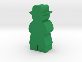 Game Piece, Man With Fedora and Tenchcoat in Green Strong & Flexible Polished