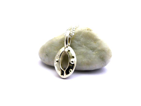 Stoma Pendant - Science Jewelry in Polished Silver