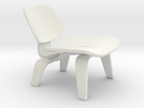 Miniature Eames DCW Chair - Charles & Ray Eames in White Natural Versatile Plastic