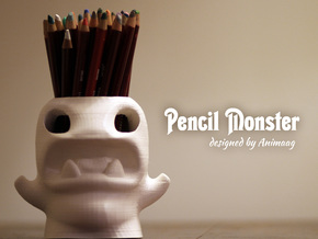 Monster Pencilpot Original High Quality in White Natural Versatile Plastic