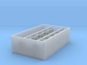 1/96 DKM Deck Skylight Set x10 in Smooth Fine Detail Plastic