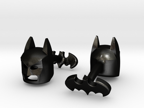 Batman Cufflinks in Matte Black Steel