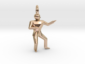 Pendant - Double Knifehand in 14k Rose Gold Plated Brass